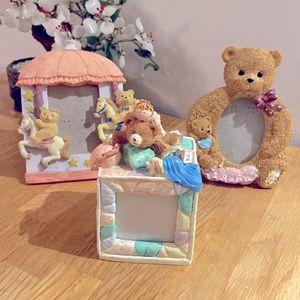 Teddy Bear Photo Frames (Set of 3)